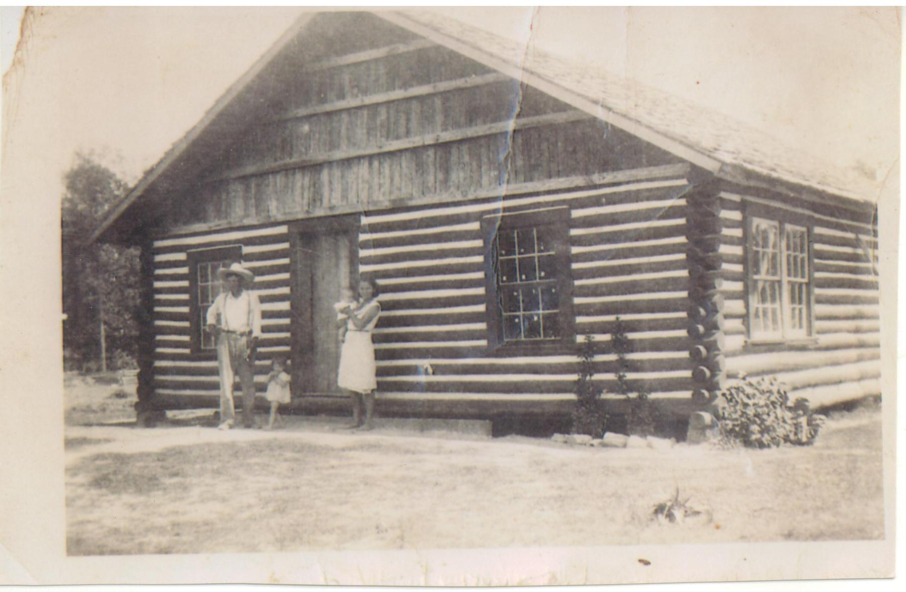 Original Cabin at completion